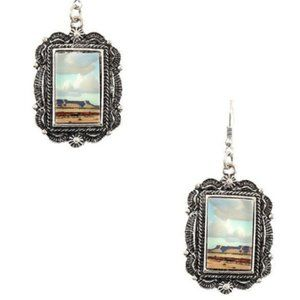 Western Picture Frame Desert Southwestern Earrings